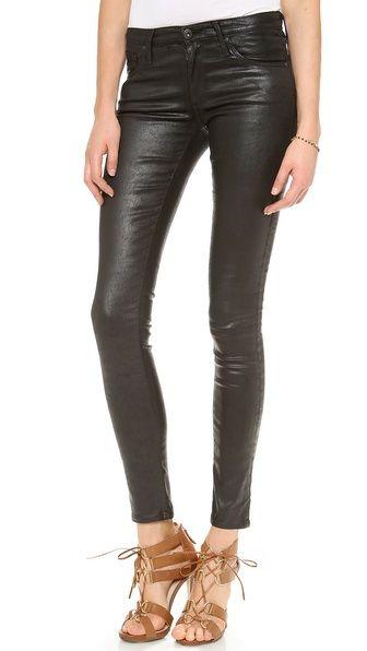 AG Adriano Goldschmied The Leatherette Legging Jeans- shop bop