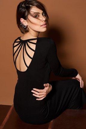 Siyah Elbise O&O-5K148074