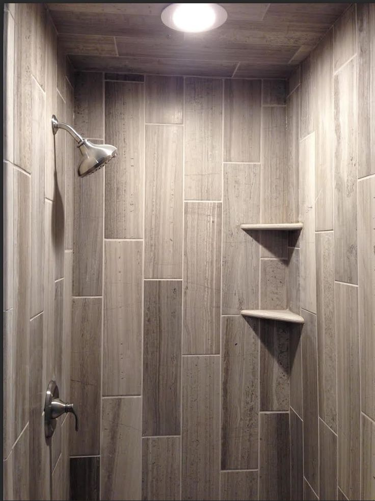 Limestone Shower Featuring Our Legno Tile Thetileshop