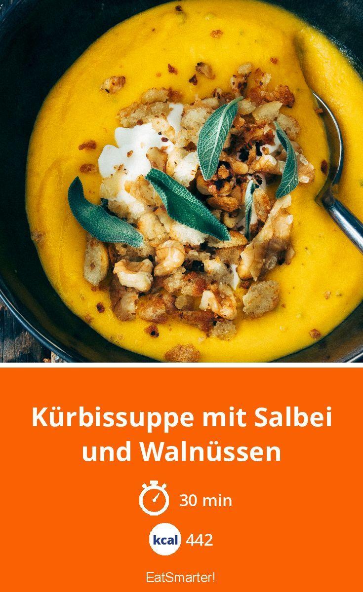Kürbissuppe mit Salbei und Walnüssen   Rezept in 2018   suppen ...