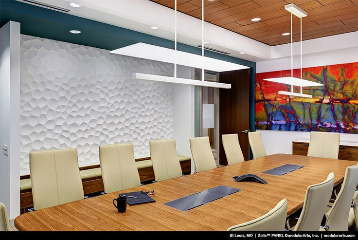 Textured Walls Conference Room Table Linear Light