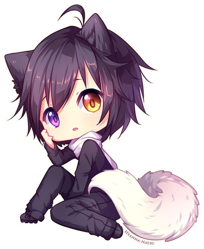 Kawaii Anime Chibi Neko Girl