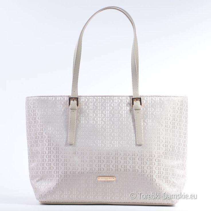Duża biała torba marki David Jones - kolor biały. Kolekcja lato 2015 - pojemny, duży model w ekskluzywnym stylu. Seria limitowana!