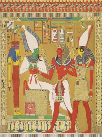:::: ☼ ☾ PINTEREST.COM christiancross :::: Ancient Egyptian Art Coloring Pages Free Colouring Pictures to Print