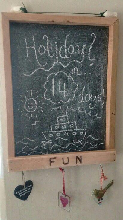 Chalk board variation.