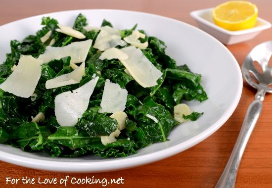 Lemon-Garlic Kale Saute - Made this for dinner tonight & loved it! Recipe c/o fortheloveofcooking.net