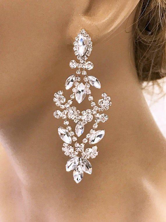 Bridal Chandelier Earrings Bridesmaid Jewelry Bridesmaid