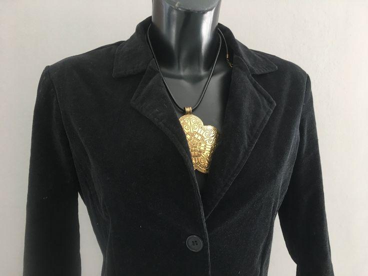 GIACCA NERA VINTAGE, giacca corta in cotone pesante, manica lunga, giacca taglia S/M, regalo per lei, per ragazza, giacca casual di ChicItalianDress su Etsy
