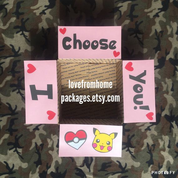 I Choose You Pokemon Care Package Flaps by LoveFromHomePackages
