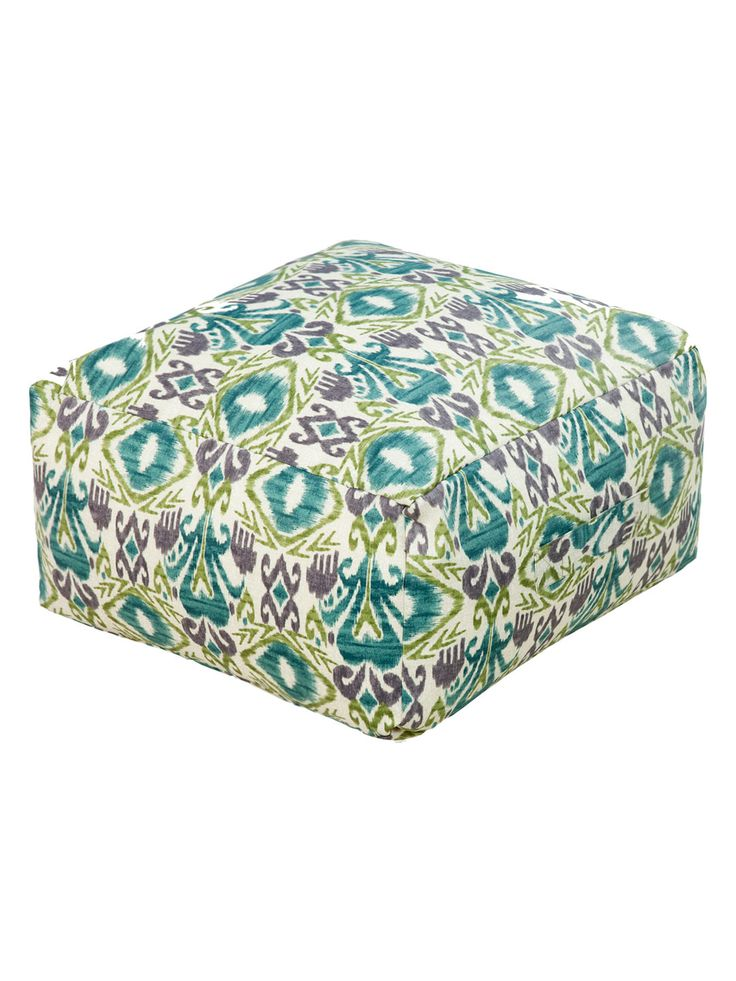 Ikat Indoor/Outdoor Pouf by Surya at Gilt