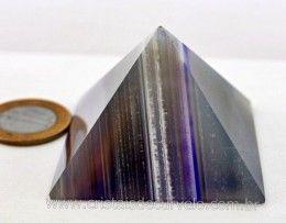 Piramide Agata Cores Modelo Egipcio Queops Pedra Extra Lapidado Cod 107.4