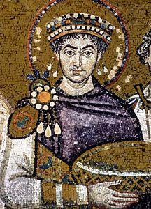 Justinian I: mosaic in the Church of San Vitale, Ravenna, Italy [Credit: © Christel Gerstenberg/Corbis]
