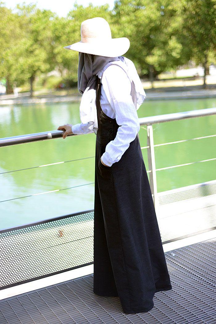 #Robe #salopette #mode #modest #fashion #pudique #musulmane #velours #milleraies