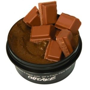 DIY lush cupcake  cacao powder, clay powder, honey, fresh mint, lemon juice, gelatine, coco oil