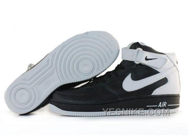 Soldes Derniers Modeles Nike Air Force 1 High Homme Top Homme Noir/Blanche  Baskets En France