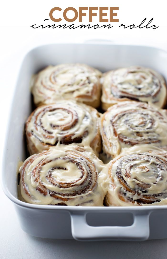 Coffee Cinnamon Rolls: cinnamon rolls with a hint of coffee smothered in coffee cream cheese frosting.