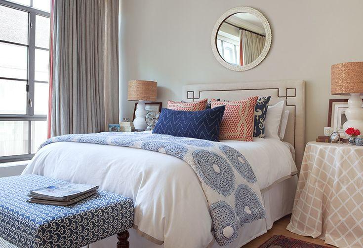 pretty, layered bedroom