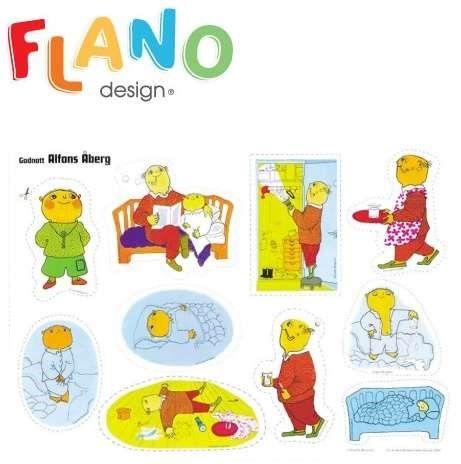 God natt Alfons Åberg : flanosaga  ..... #bilderbok #flanosaga