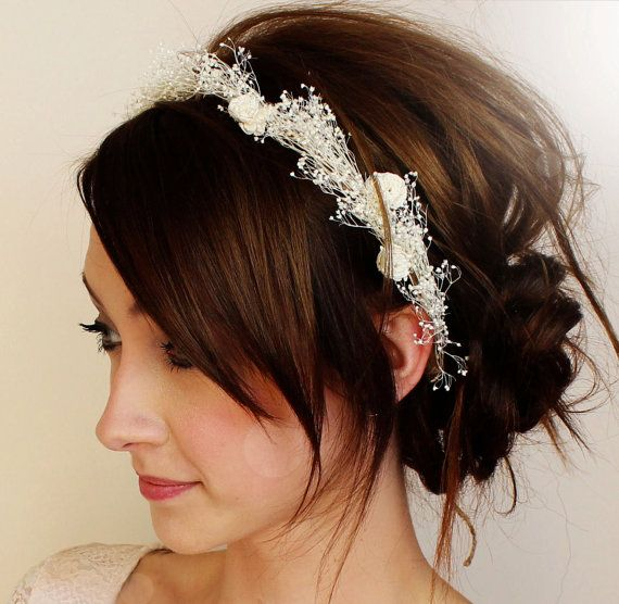 baby's breath halo crown by TheSunflowerStand on Etsy. $50.00, via Etsy. I like the Hair