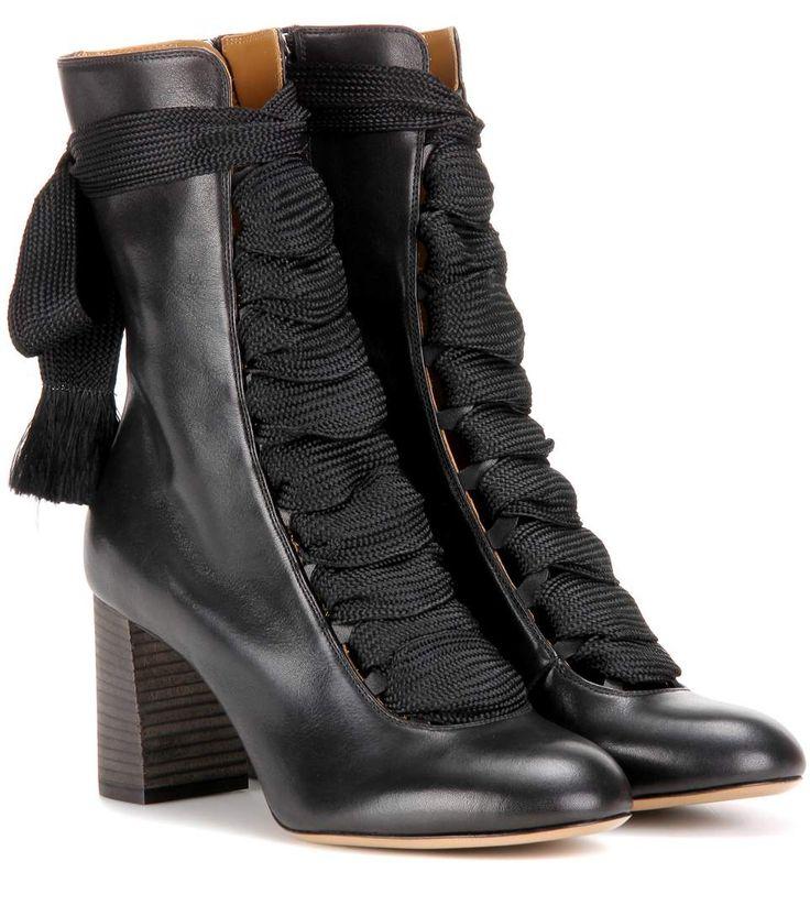 Schwarze Lederbooties Harper | Chloe