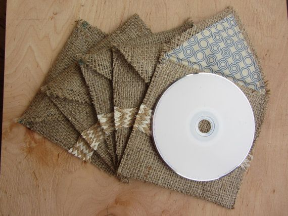 DIY Burlap gifts Etsy listing at https://www.etsy.com/listing/183316500/cd-sleeve-photography-packaging-cd-case