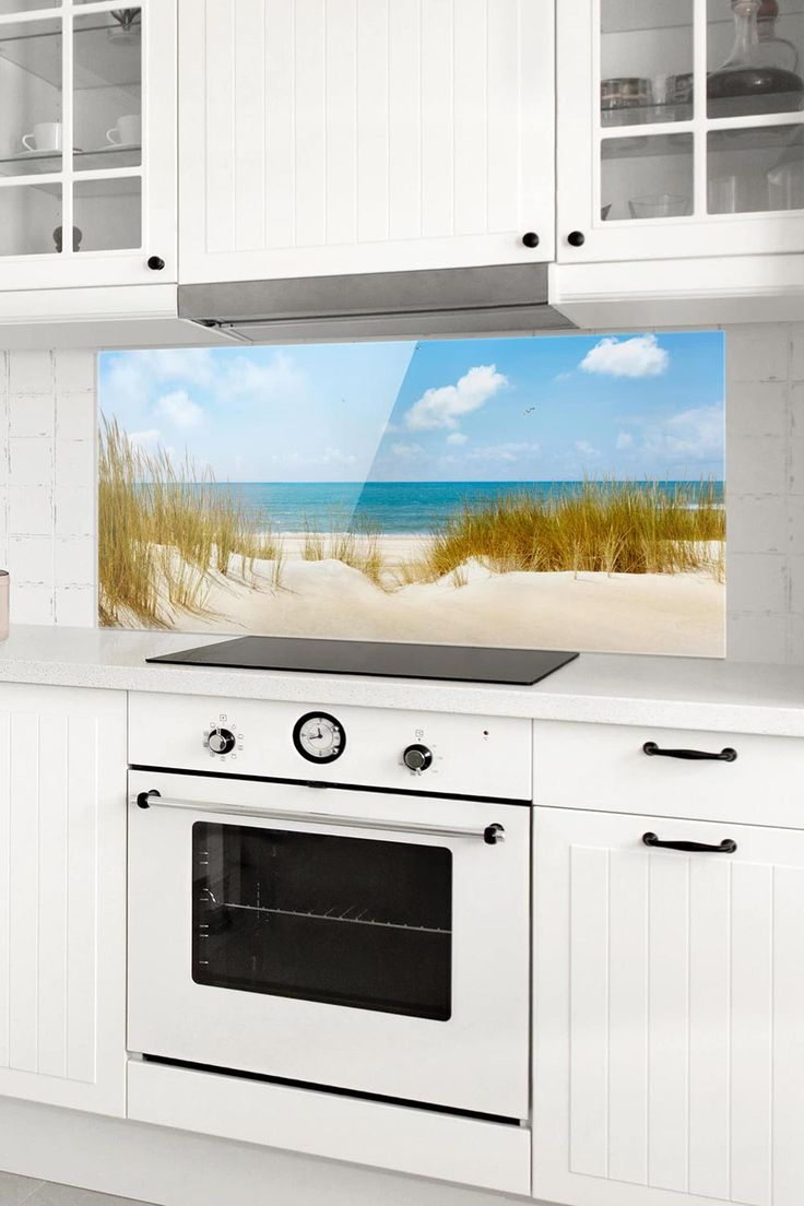 Spritzschutz Glas   Strand an der Nordsee   Panorama   Glasrückwand küche, Spritzschutz ...