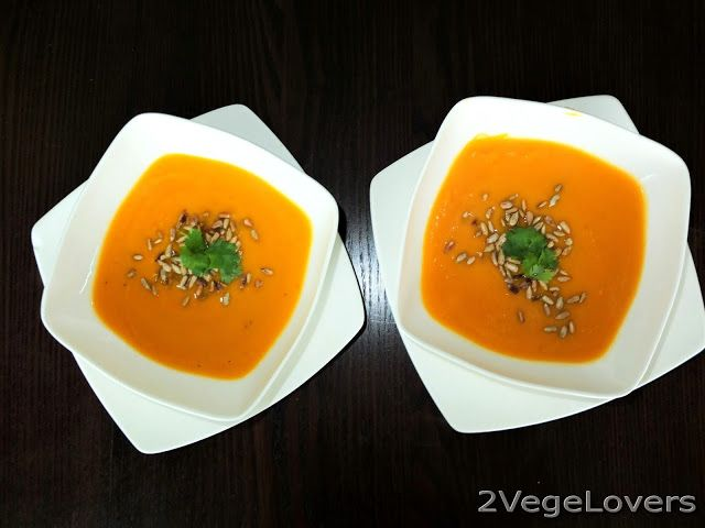 2 VegeLovers: SWEET POTATO SOUP WITH ORANGE AND CHILI PEPPER (gf...