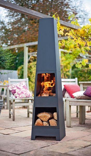 Terasové ohniště Malmö Lifestyle z lakované oceli slouží k vytvoření atmosféry a tepla na terase. Nahradí tak domácí krb. Rozměry 150 x 36 x 36 cm. Cena 5290 Kč.