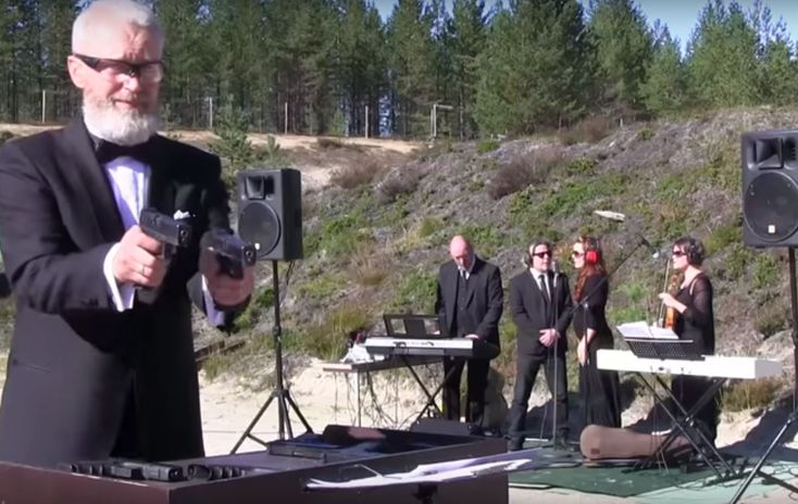 """Ah, the sweet sound of gun fire. Check out """"The Shooting Star Band,"""" a group with a unique sound . . . the sound of Glocks shooting at metal targets. Skeptical? Take a listen, they sound pretty good. The plates act like bells, and each… More »"""