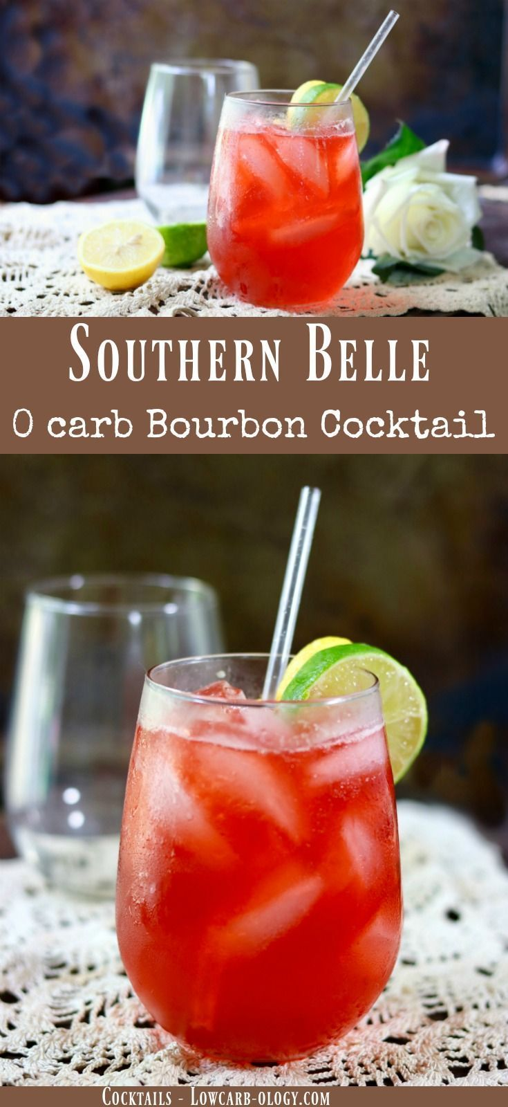 This summer bourbon cocktail recipe is light and refreshing, sweet and tangy, and perfect for long summer afternoons! Just 130 calories and 0 carbs! YUMMY! From Lowcarb-ology.com via @Marye at Restless Chipotle