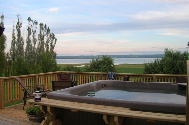 Wow. A 100 mile view from a Beachcomber hot tub. #beachcomberhottubs #hottubs #outdoorliving  #canada #relaxation #hydrotherapy #massage #beachcomber