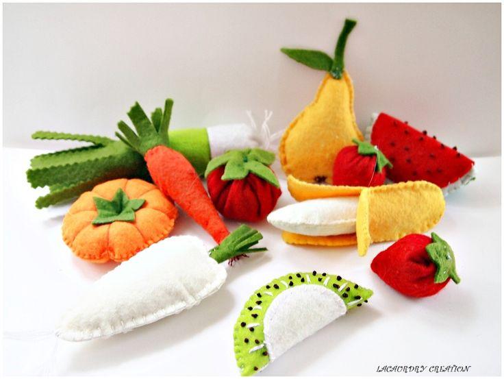 Fruits et légumes en feutrine