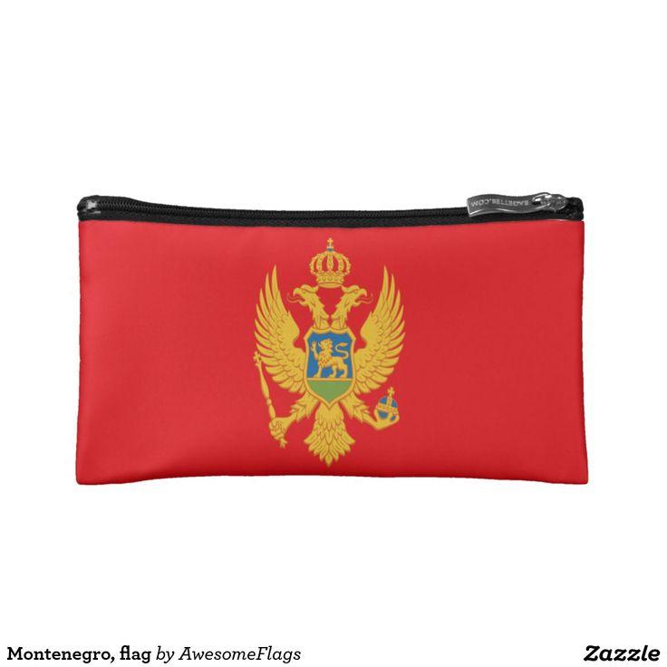 Montenegro, flag cosmetics bags
