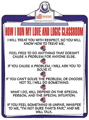 love and logic poster - Google Search