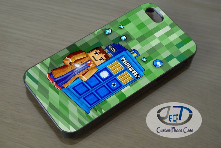 Minecraft Tardis Space and Time Traveller Case iPhone, iPad, Samsung Galaxy, HTC Cases