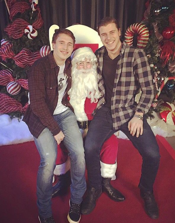 Brendan Gallagher and Nathan Beaulieu with Santa...the cutest thing I've seen all day
