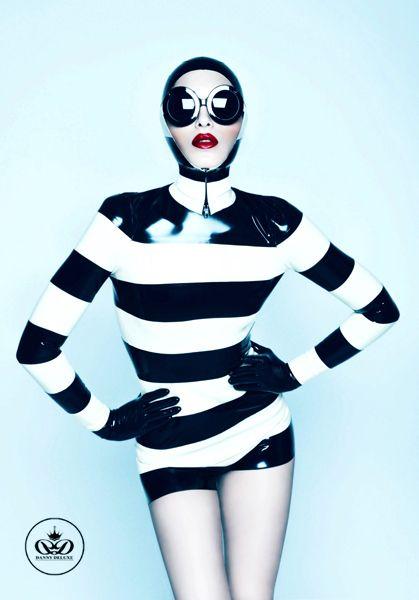 Black and White Latex  Elegance!