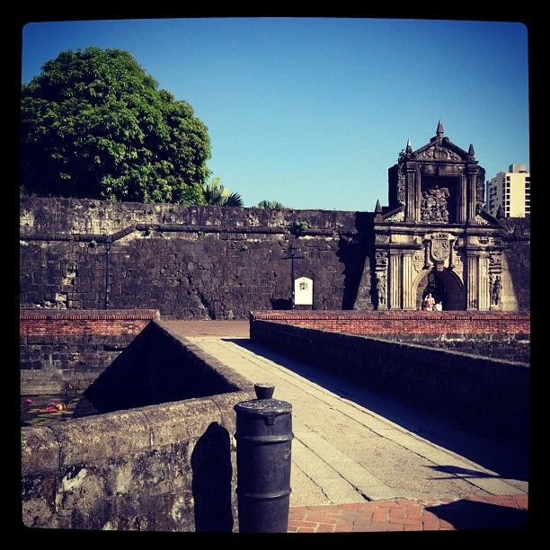 Fort Santiago in Maynila, City of Manila - Intramuros, the Walled City- is a preserved area that still keeps the Spanish-Filipino culture and influence intact. A must visit during the day. There is also a bike tour via bamboo bike or a walking tour. -MR