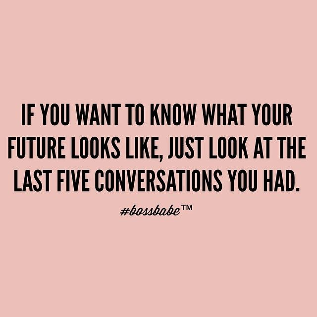 Are you making conversation or are you making hot air? Join the #Bossbabe Netwerk™ (Click The Link In Our Profile Now! )