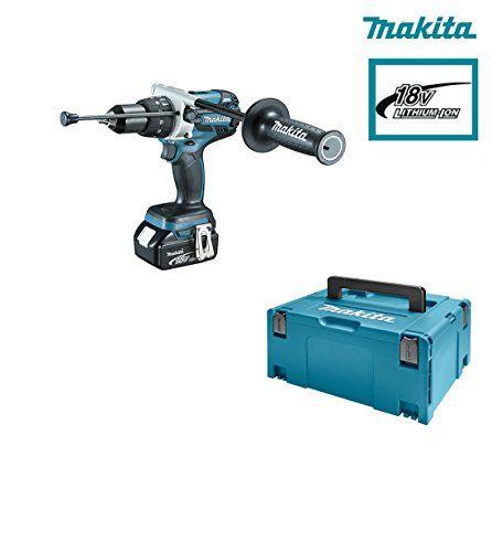 Billig kaufen Set 2Maschinen Makita 18V Li-Ion 4Ah (Bohrhammer dhr264 Schlagschrauber dhp481 Zubehör-Set dlx2101pmj Verkauf
