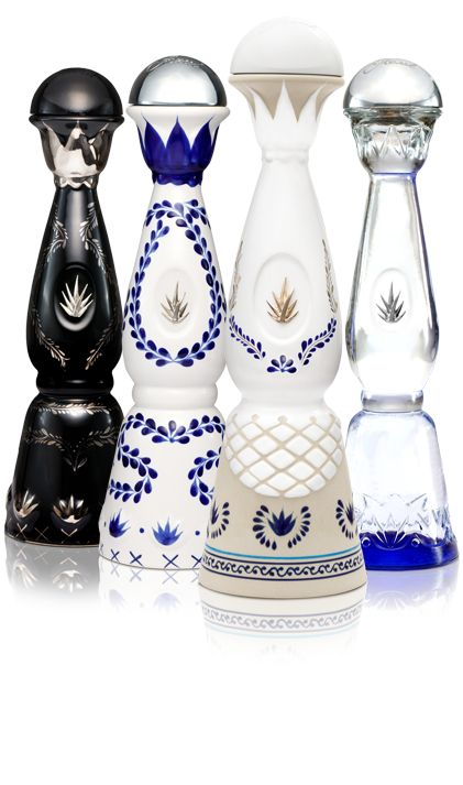 Clase Azul Tequila bottles.  Each is hand made and hand painted from Mexico.  Gorgeous!
