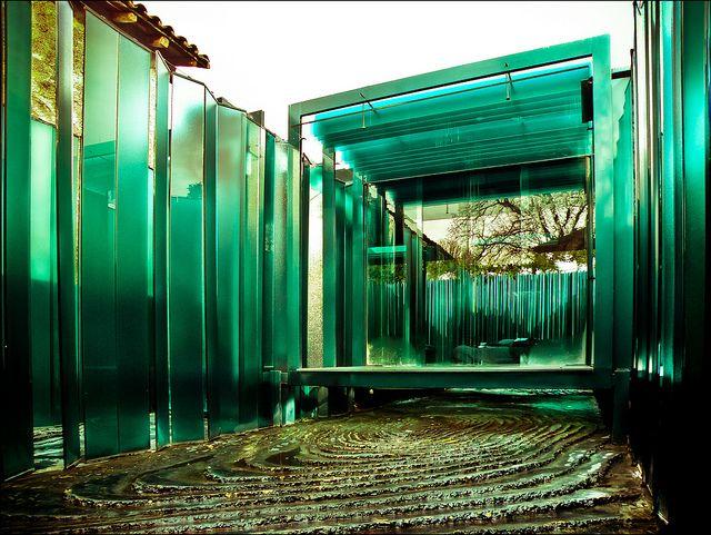Les Cols Pavellons. Vista del jardín y pabellón. Olot. RCR Arquitectes. Foto: Pablo Echávarri by Pablo Echávarri, via Flickr