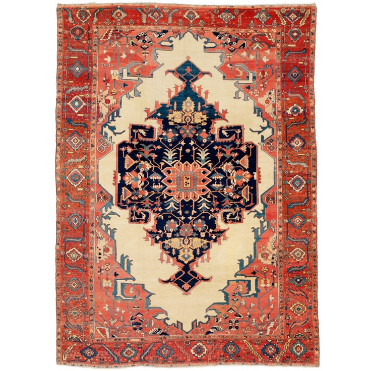 Antique Serapi Heriz Carpet Mint Condition With Velvety Full Pile This Is
