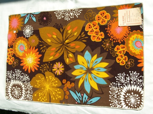 Collectable Vintage 'Old Bleach' flower fabric. 60s retro material. V & A Museum | eBay