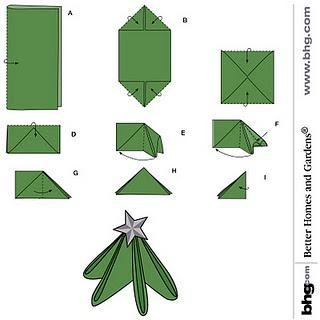 Tree napkin folding