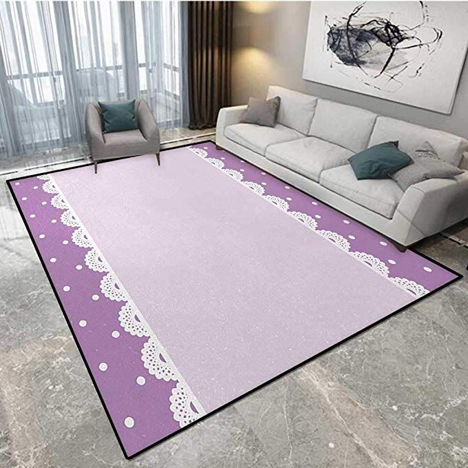 Anhounine Mauve Safcord Carpet Cord Cover Old Fashioned Ornate Lace Pattern With Classical Polka Dots Background Carpet Padding Polka Dot Background Cord Cover