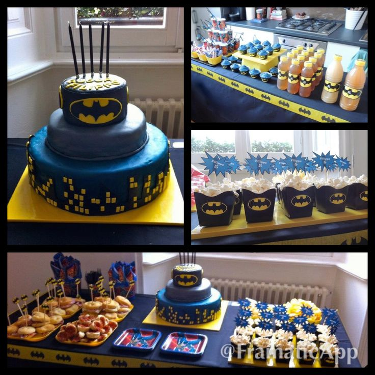 Batman theme Birthday Party