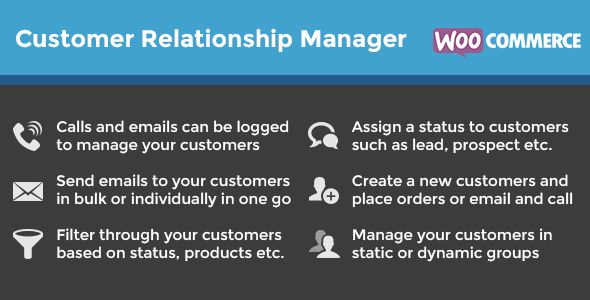 WooCommerce Customer Relationship Manager V3.0 - http://nulledtemplates.net/scripts/woocommerce-customer-relationship-manager-v3-0.html  WooCommerce Customer Relationship Manager V3.0 Adding Customers Has Never Been Easy, Just Click 'Add custmer' and fill in the fields you need to fill. By default, fields such as date of birth, twitter, skype, web, are loaded. If you would like to add more fields to the customer page, you can use the free advanced custom fields plugin. Ge