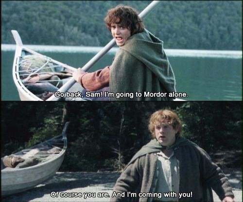 """I made a promise, Mr. Frodo. A promise; 'Don't you leave him, Samwise Gamgee'. & I don't mean to."""