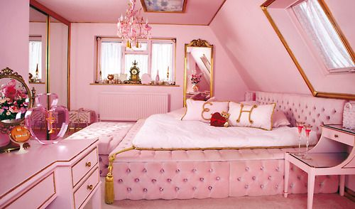 If Jeff wants a man cave then I deserve a separate room.. my pink room! One day #highhopes